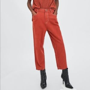 Zara Relaxed Fit Pants